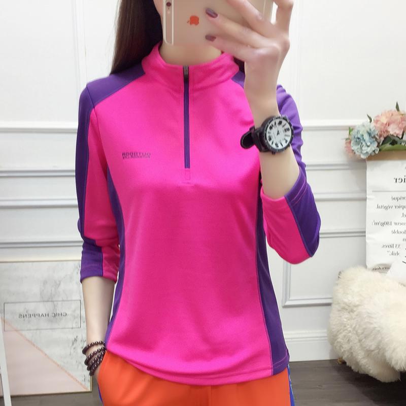 韩版立领速干长袖薄款透气跑步运动快干衣潮 2020 恤 T 户外速干衣女