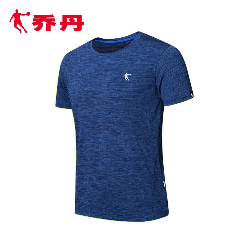 乔丹男装短袖T恤男夏季新款男子运动服针织圆领休闲跑步健身服短t