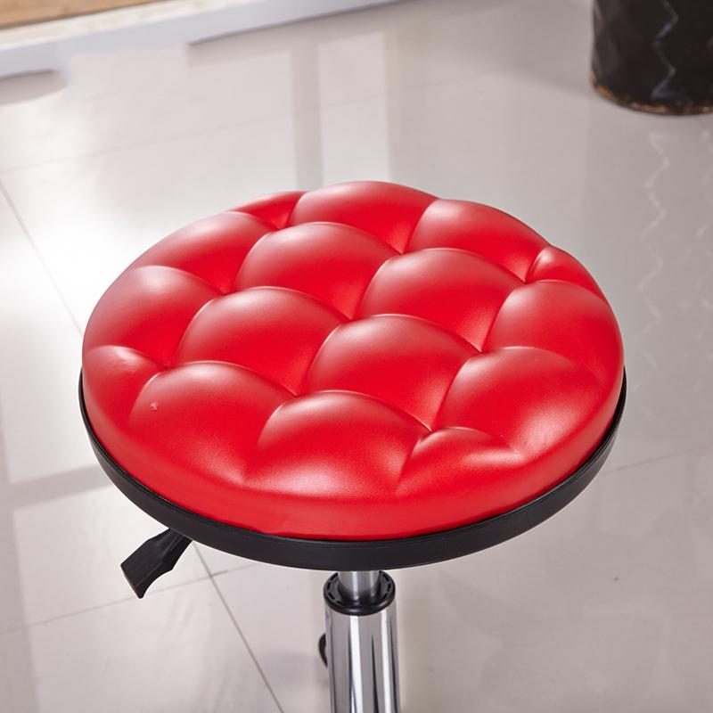 时尚简约吧台椅美容美发店理发凳子升降旋转酒吧KTV小圆凳大工椅