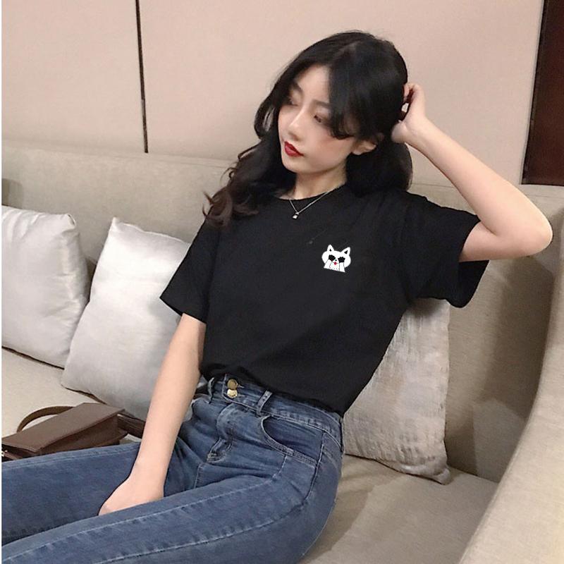 澳苑2020夏季纯棉ins潮情侣同款短袖女式韩版宽松大码打底圆领T恤