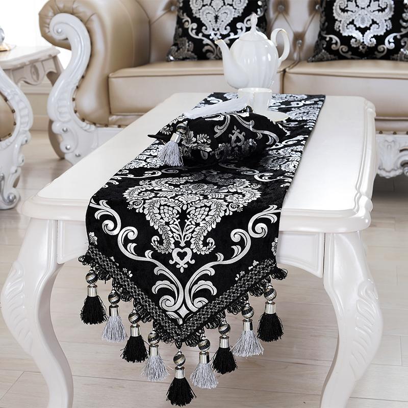 歐式高檔桌旗 奢華古典時尚餐桌茶几布電視櫃邊鞋櫃蓋巾床旗餐墊