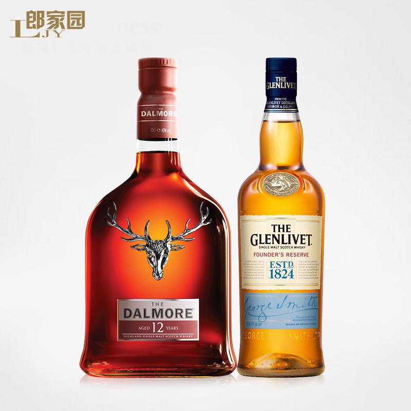 进口洋酒 大摩/帝摩12+格兰威特1824苏格兰单一麦芽纯麦威士忌酒