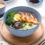 Face bowl Japanese home ceramic creative large number noodle restaurant soup tableware single ramen bowl special bubble noodle bowl