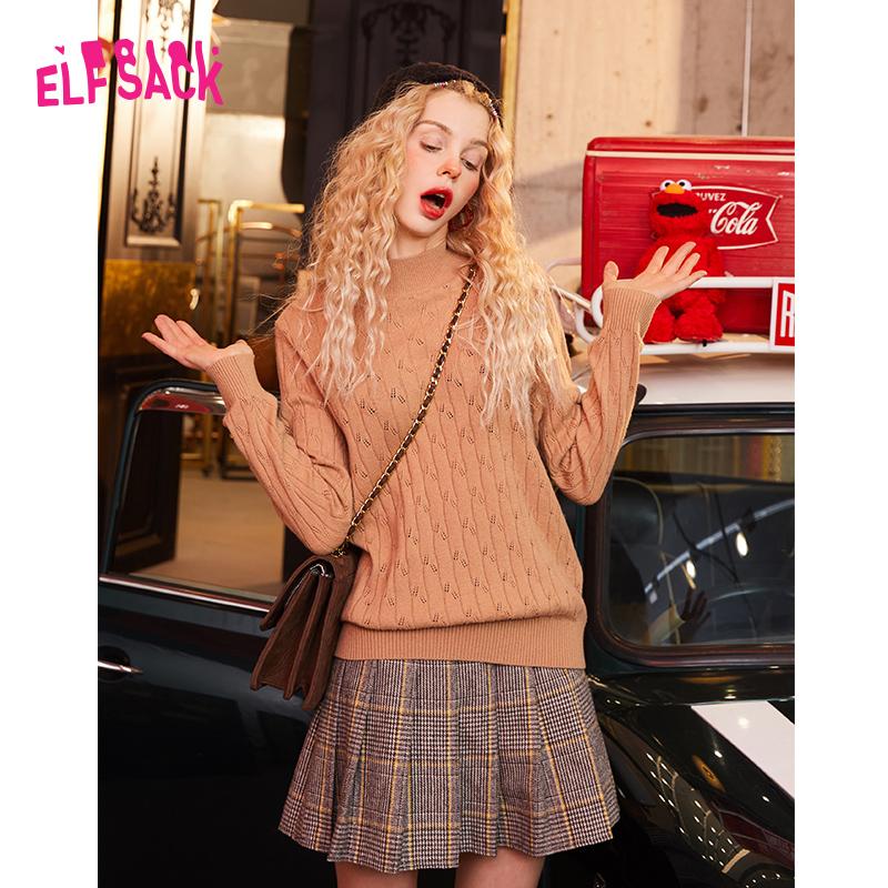 妖精的口袋羊毛套头长袖针织衫2019秋冬季新款女ins打底毛衣上衣