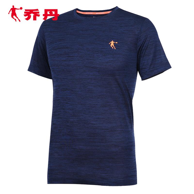 乔丹短袖t恤男装2020夏季新款运动半袖男跑步上衣圆领透气运动服