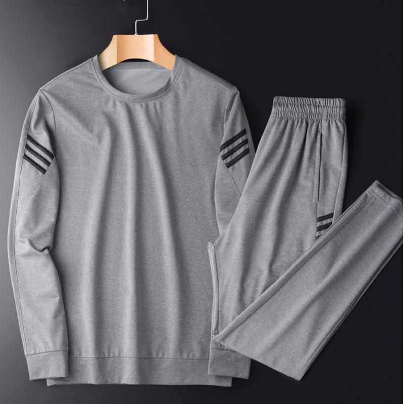 一套衣服男爸爸秋装运动套装时尚中老年人秋季中年男装爸爸装跑步