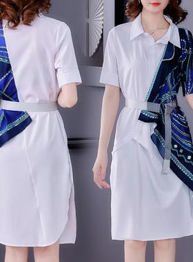 欧洲站女装2021新款高端大牌奢华洋气轻奢高级连衣裙修身气质欧美