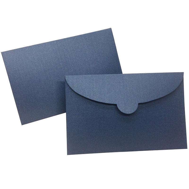 珠光明信片封套信封卡片信封邀请函信封订做定制印刷LOGO1711插舌