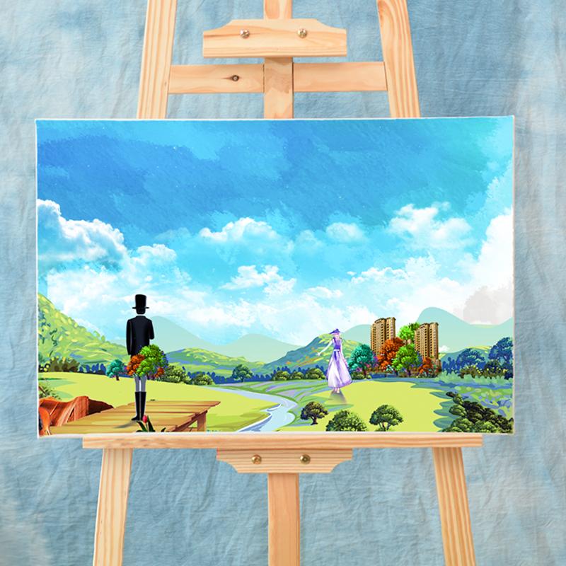 油畫框布框帶畫布亞麻純棉丙烯油畫顏料畫布板外框套裝定制做批發