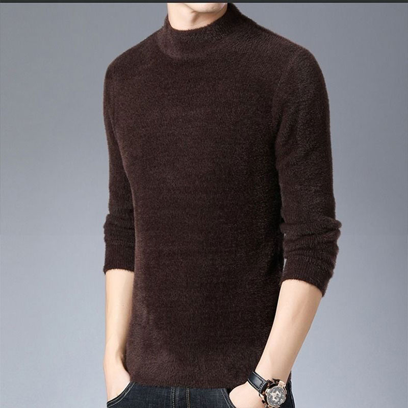 半高领圆领秋冬韩版加厚保暖针织打底衫