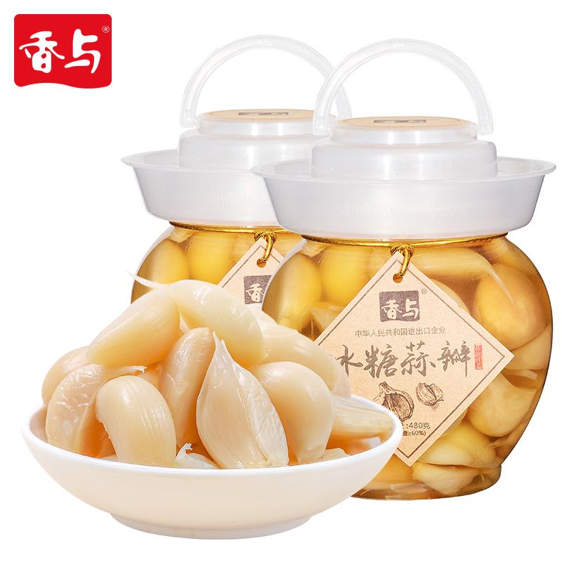 【香与】糖蒜腌泡蒜大蒜头220g*2袋