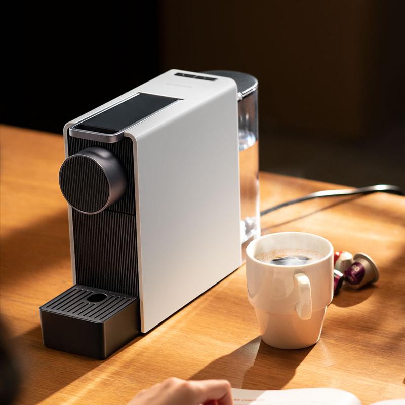 心想mini胶囊咖啡机,一键萃取高颜值
