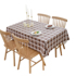 Tablecloth waterproof, anti-scald, oil-proof, disposable PVC plastic coffee table mat net red ins table cloth lattice rectangular table cloth