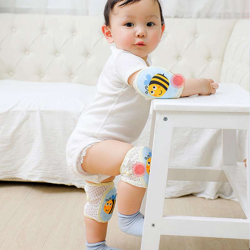 宝宝护膝防摔护腿神器夏季夏天薄款儿童学走路婴儿爬行膝盖套护垫