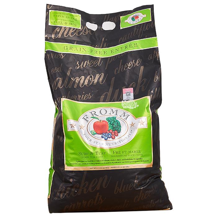萌宠儿 福摩Fromm天然无谷三文鱼鸭肉蔬菜全猫粮 绿福摩5磅/15磅优惠券