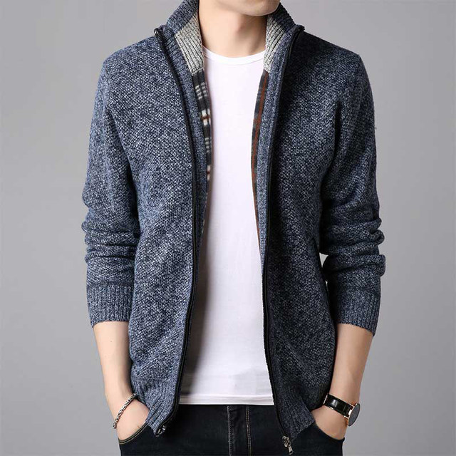 Sweater men 2020 autumn and winter casual knit sweater men Korean style trend loose stand-up collar cardigan sweater jacket men