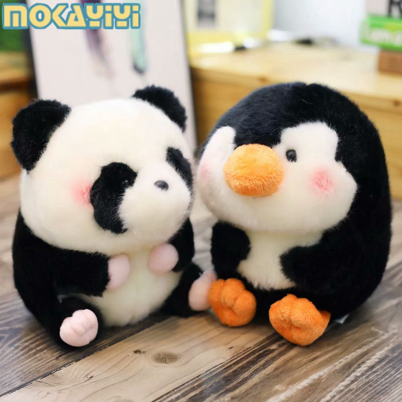 可爱熊猫企鹅萌物玩偶公仔毛绒玩具超萌小布娃娃海豚女孩生日礼物