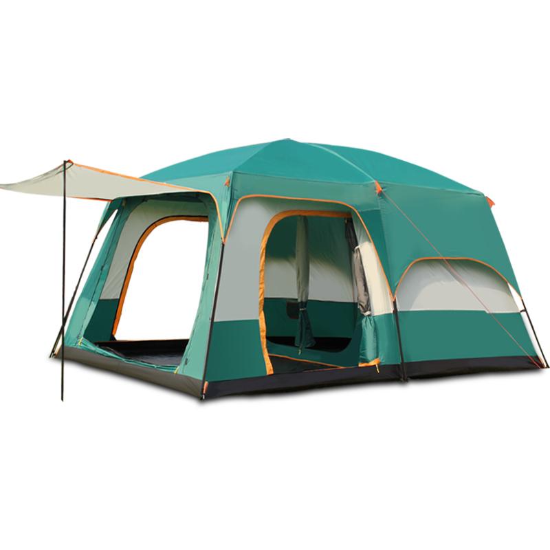 人多人露营大帐篷 12 10 8 5 6 骆驼户外二室两房一厅自动帐篷野营