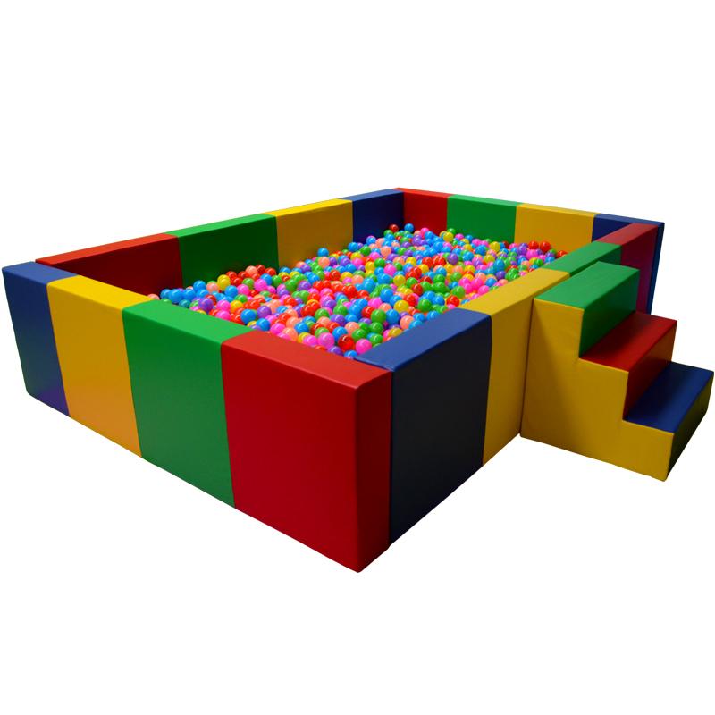 加厚儿童软体海洋球波波球池 幼儿园亲子园宝宝软体球池围栏