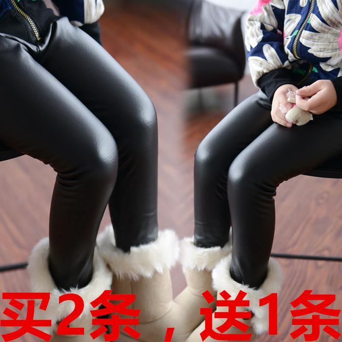 春季新款儿童裤子女儿童仿皮裤非pu皮裤女童打底裤薄款中大童长裤