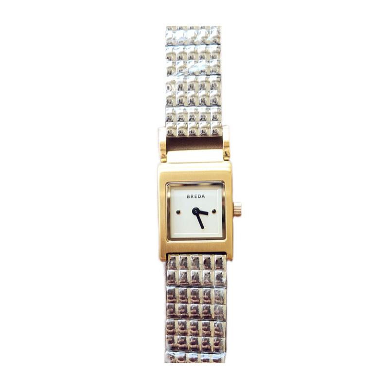 新款  复古方形小表盘简约时尚女表钢带石英手表现货 Revel 正品 BREDA
