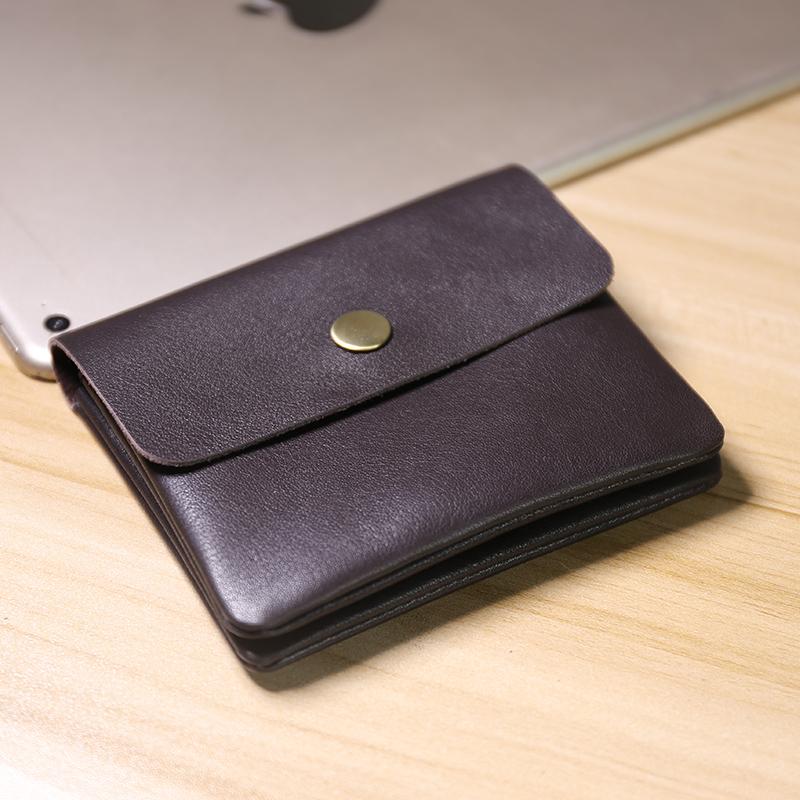 日韩男迷你硬币包学生钱包男士真皮双层搭扣卡包女短款零钱包女