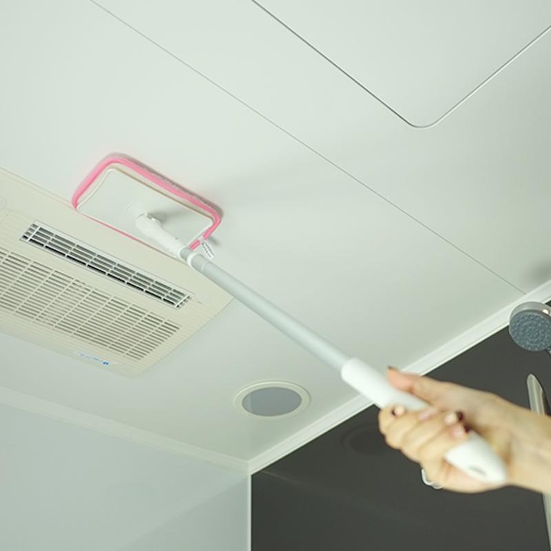 康多多日本山崎小海豹天花板刷 衛浴牆壁潔淨刷 屋頂長柄清潔刷
