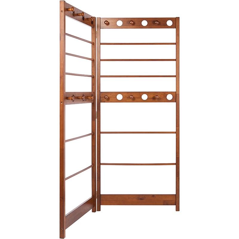 英尼斯室内实木转角玄关衣帽架落地卧室挂衣架简易置物架衣服架子