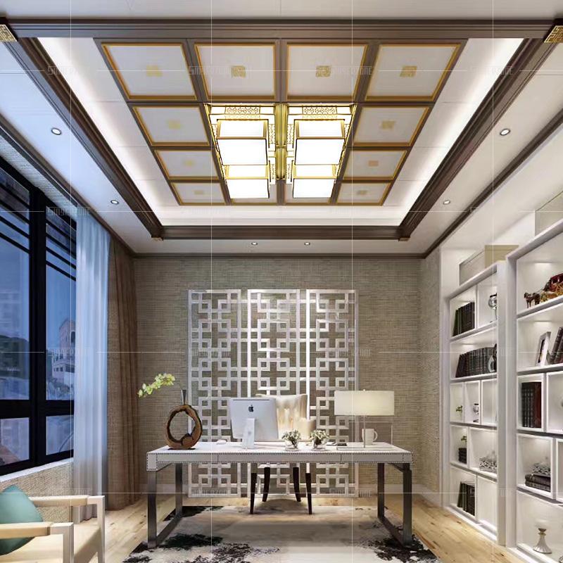450x450 客厅铝扣板嵌入式卧室餐厅艺术吊顶灯 45x45led 集成吊顶灯