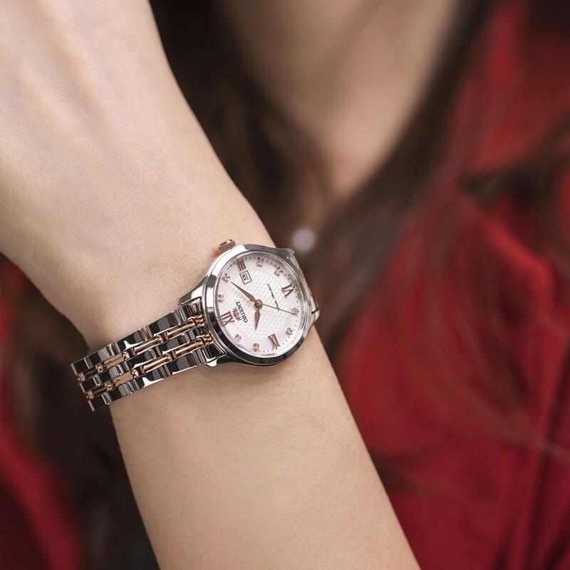 东方双狮机械表女款简约时尚潮流女士腕表优雅轻奢玫金情人节礼物