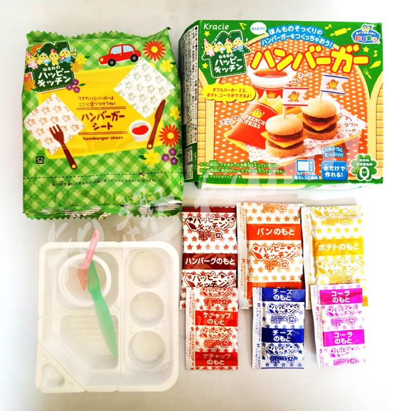 日本食玩diy自制迷你汉堡包薯条制作手工糖果儿童可食小伶玩具