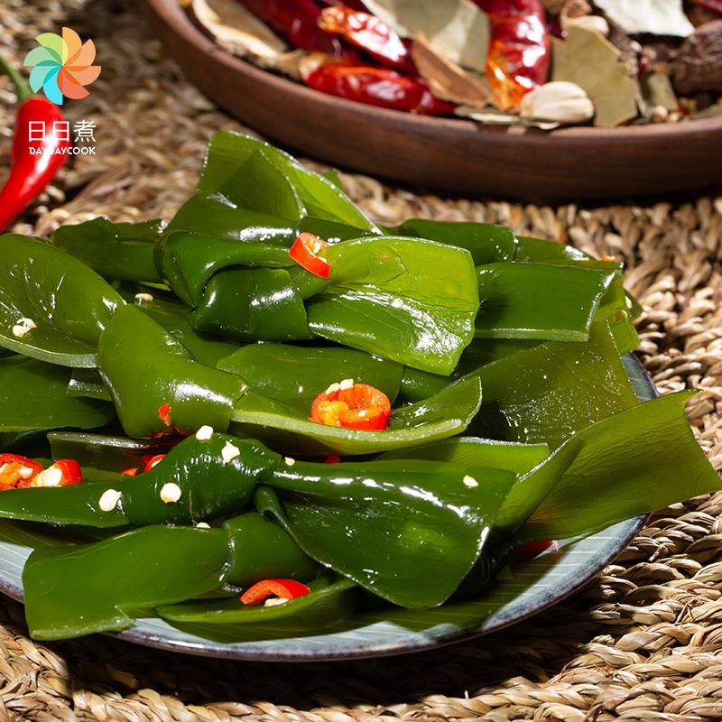 日日煮海带结酸辣下饭菜海草即食香辣零食小吃休闲食品480g/箱