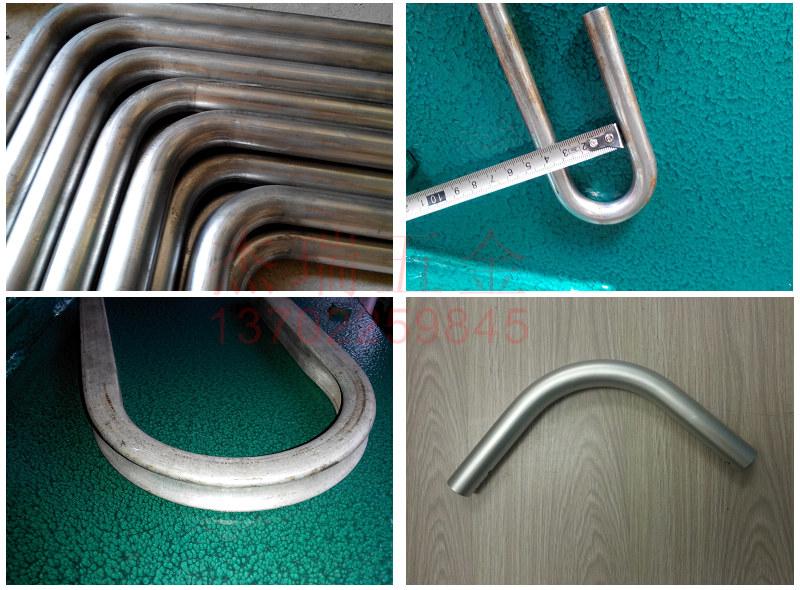 不锈钢拉手扶手铁管铝管来料弯管加工弯管定制工件抽芯弯立弯滚弯