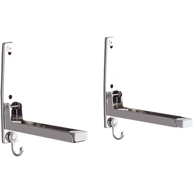 沐歌微波炉架置物架壁挂厨房304不锈钢烤箱架挂式挂件架子带挂钩