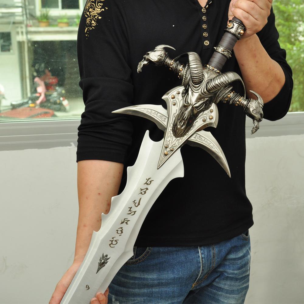 魔兽游戏周边霜之哀伤1 1比1全金属剑巫妖王武器模型包邮未开刃