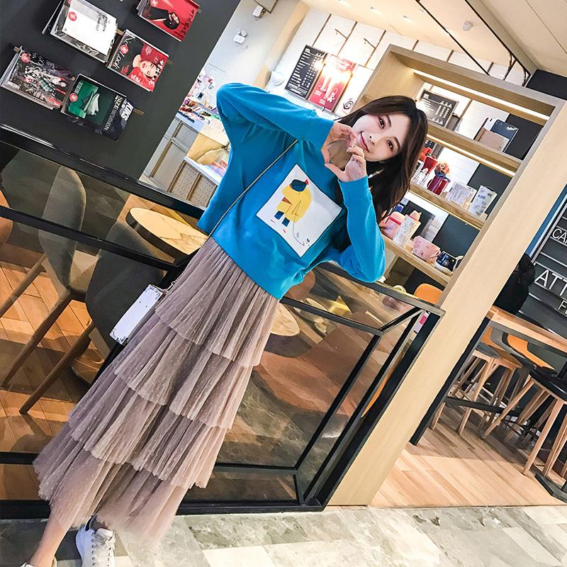 很仙的法国小众连衣裙2019年春秋新款女装法式复古两件套装裙子潮
