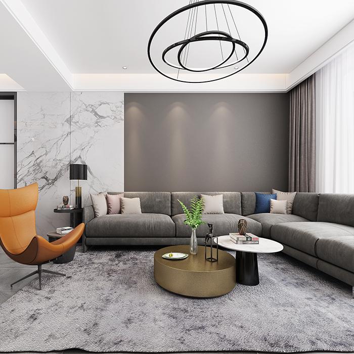 现代简约家装室内装修设计纯设计效果图施工图别墅客厅卧室餐厅