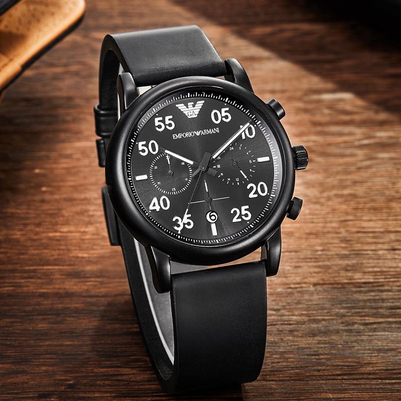 Armani阿玛尼专柜正品手表男真皮复古经典潮流男款手表 AR11133