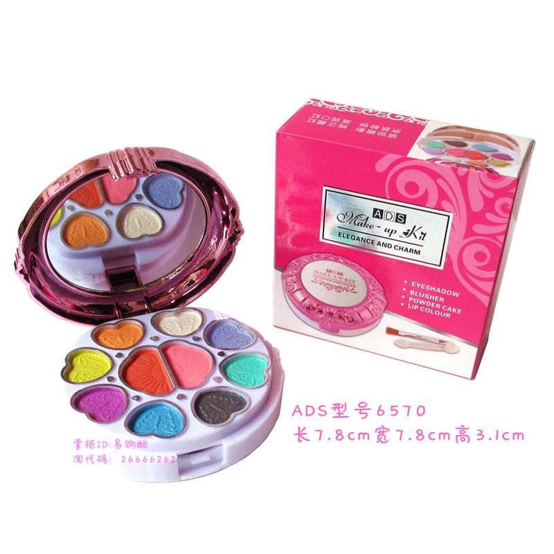 少女儿童化妆粉盒艾迪丝草莓化妆盒彩妆盘多色眼影粉饼小学生表演