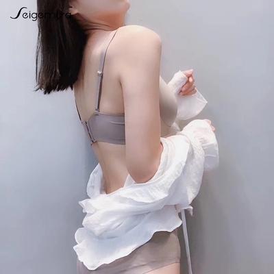 无痕内衣套装女文胸聚拢无钢圈性感收副乳上托少女小胸罩厚薄款