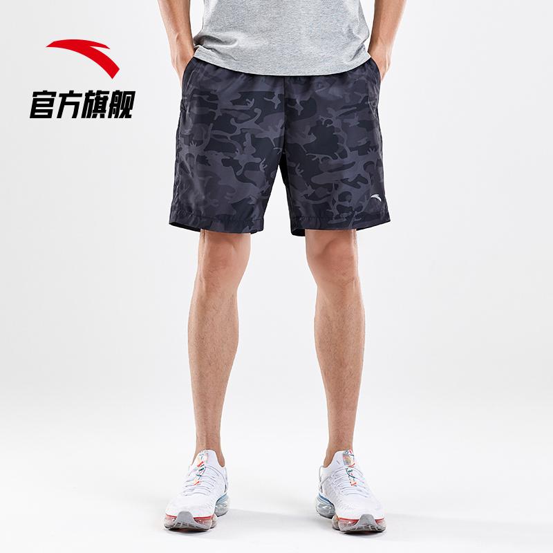 安踏短裤男士运动裤2019夏季新款轻薄短裤梭织迷彩裤潮五分裤休闲