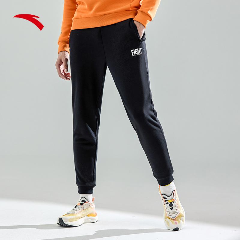 【双11预售】安踏运动裤卫裤男子加绒宽松束脚裤子收口小脚长裤