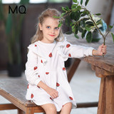 MQ children's clothing girls knitted dress small fresh 2020 spring children's foreign printing base skirt short autumn and winter