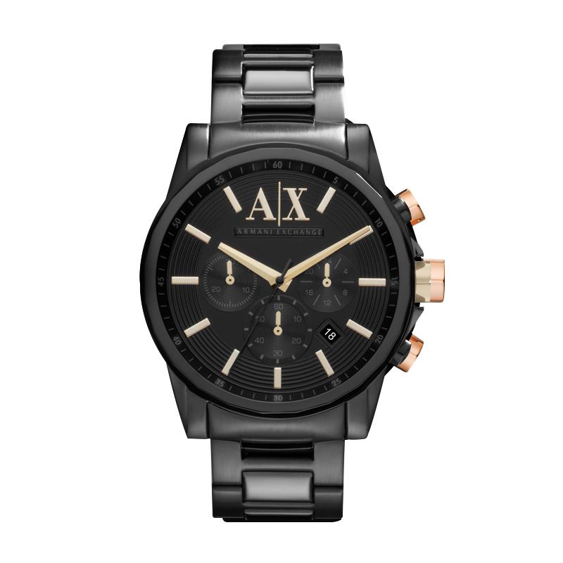 阿玛尼男士石英腕表ArmaniExchange官方旗舰店正品钢带手表AX2094