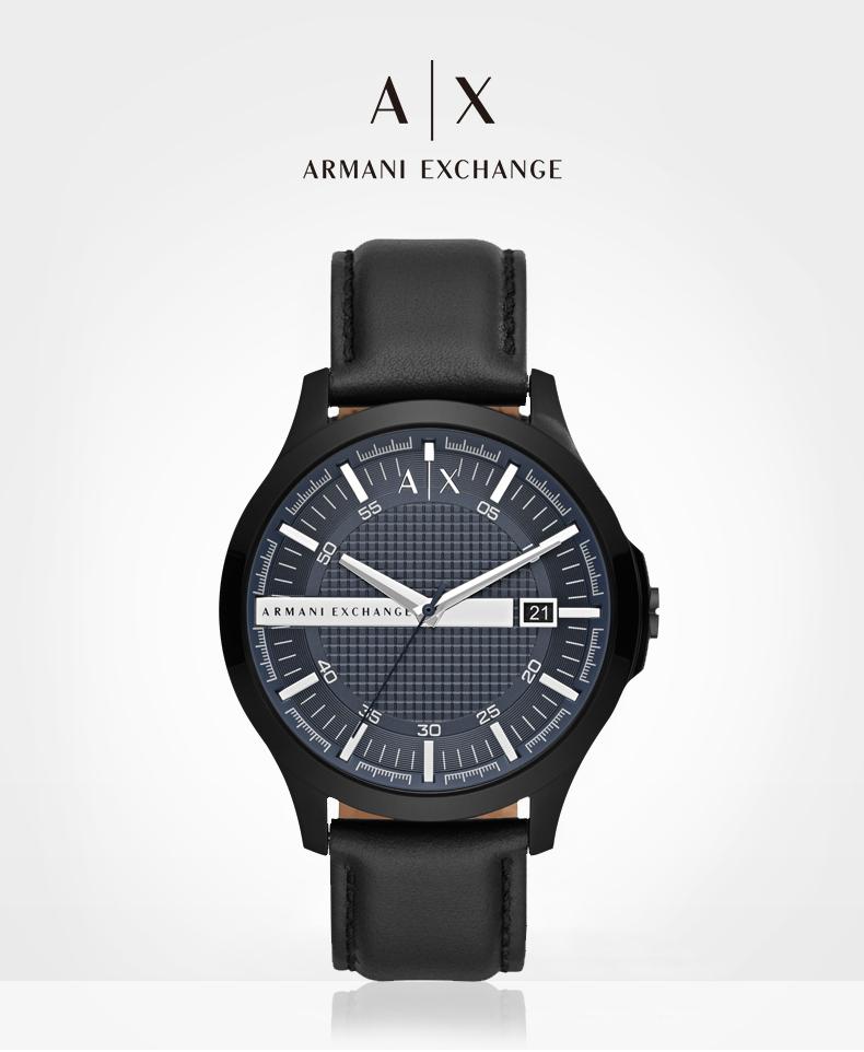 Armani阿玛尼手表男官方旗舰店正品黑武士石英学生潮流礼物AX2411