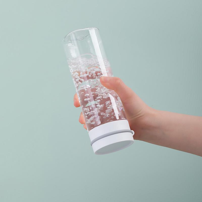 茶花塑料水杯商务男女办公室茶杯夏天运动便携随手杯耐摔简约杯子