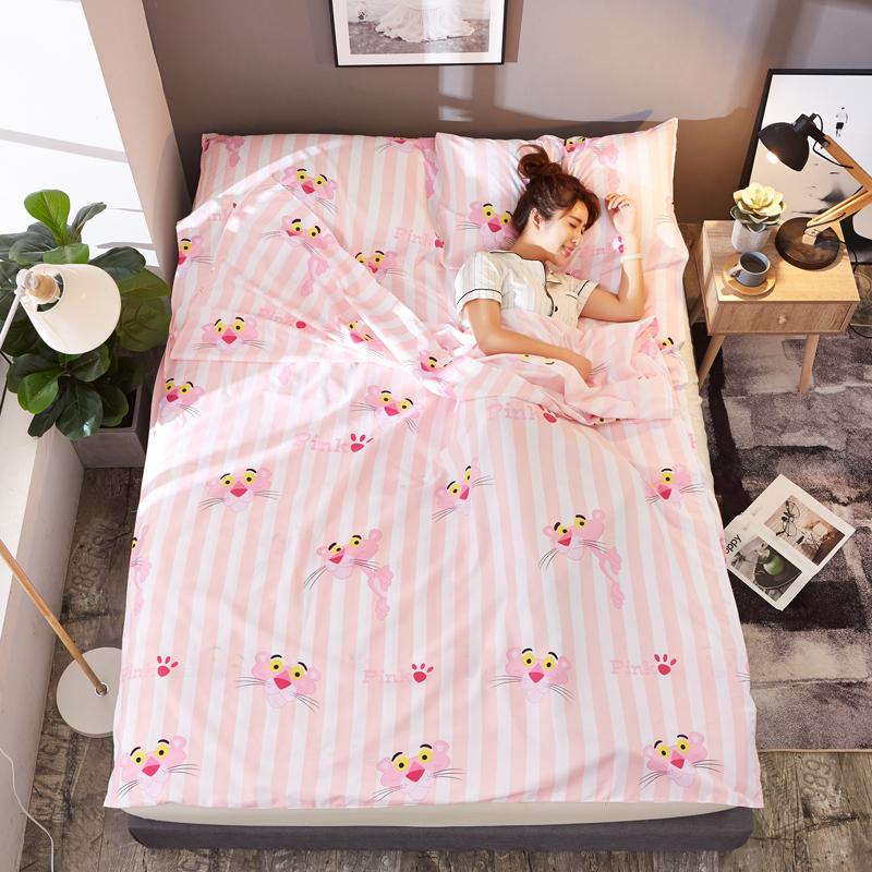 旅店隔脏睡袋旅游简易床单可爱旅馆拆洗被子包被隔离大人睡觉春夏