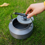 1.6L kettle outdoor portable mountaineering camping cookware set barbecue coffee pot teapot travel tea pot hanging picnic
