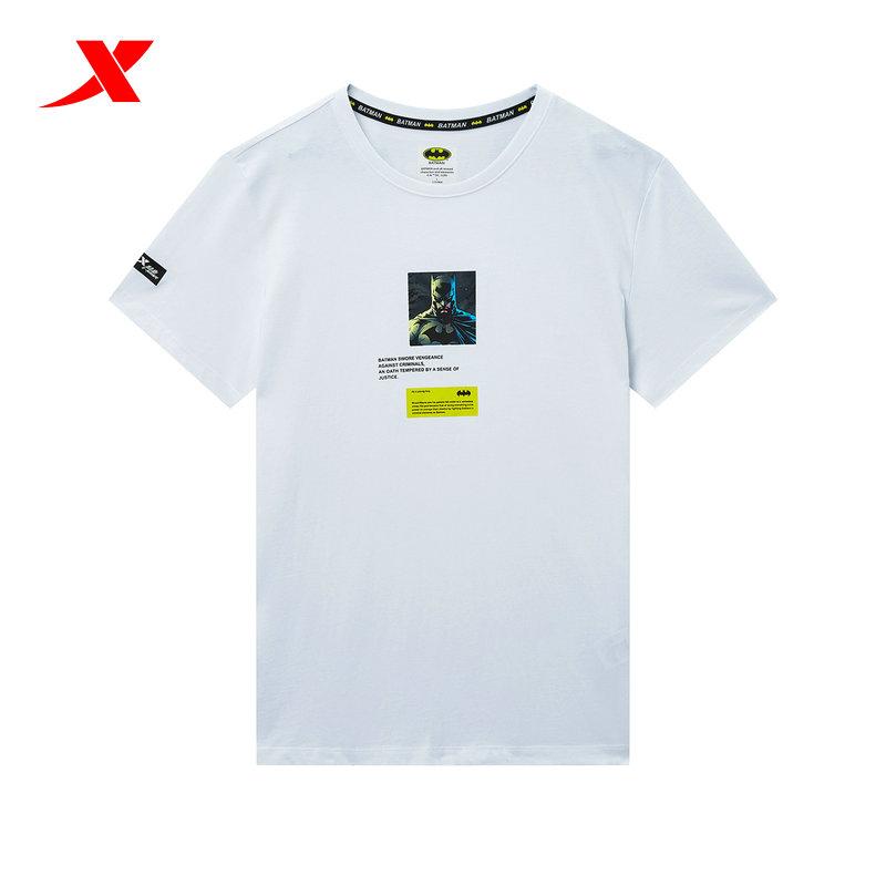 特步蝙蝠侠联名男士短袖针织衫2020夏季新款纯棉上衣运动休闲T恤