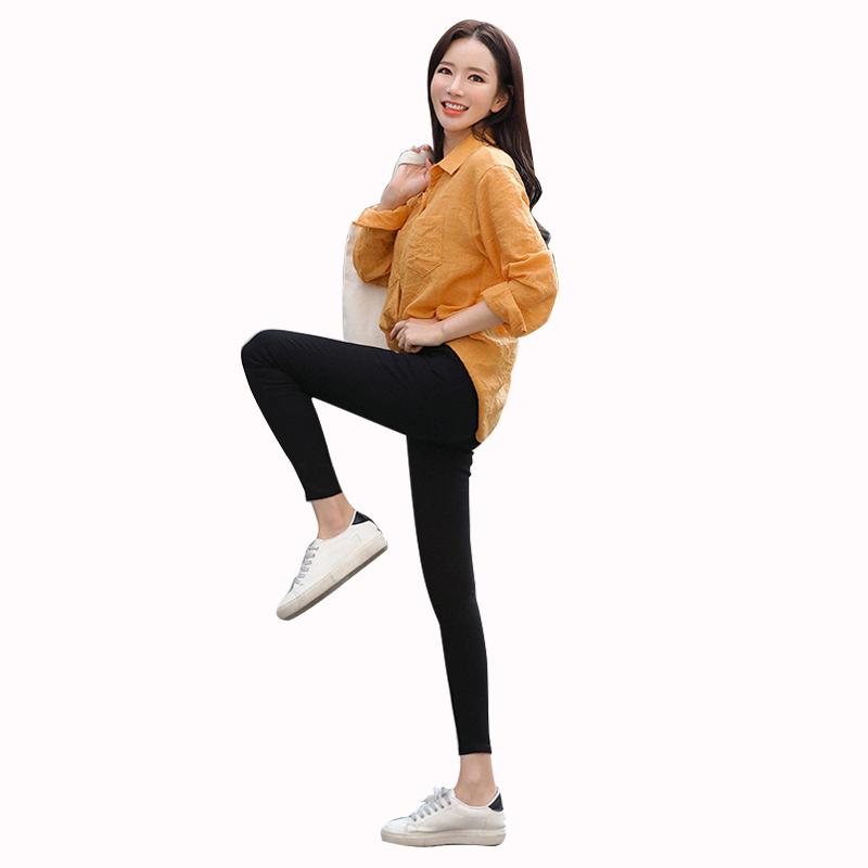 黑色打底裤女外穿夏季魔术小脚高腰铅笔黑裤2020新款春秋薄款显瘦